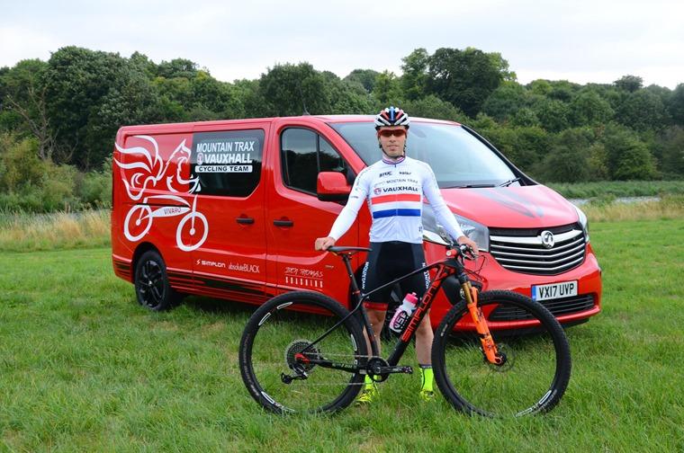 Ben Thompson of mountain biking with the Vivaro Tourer Edition Nav Doublecab