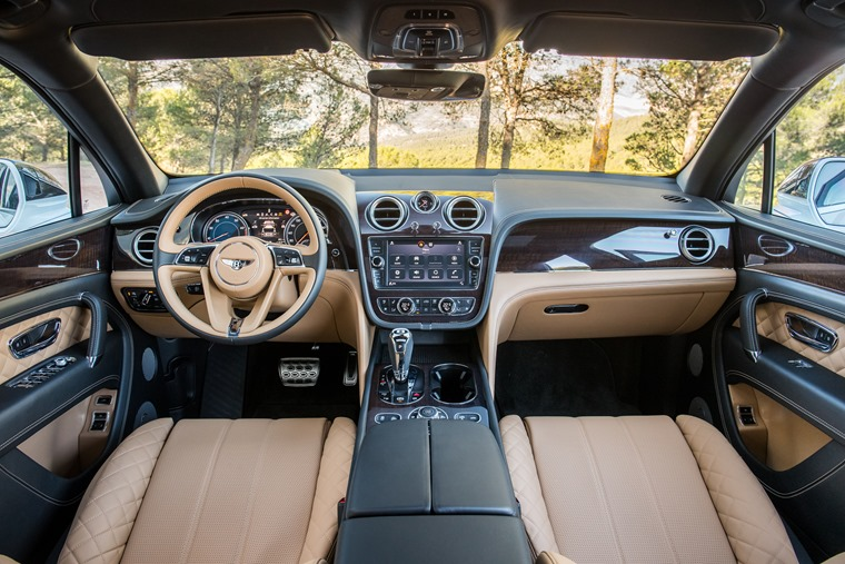 Step inside and it's business as usual for Bentley: pure luxury.