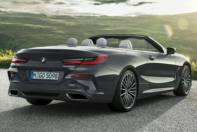 BMW 8 Series convertible rear