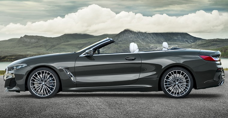 BMW 8 Series convertible side