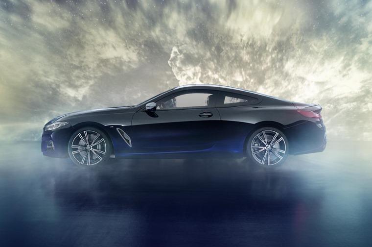 BMW 8 Series Night Sky side