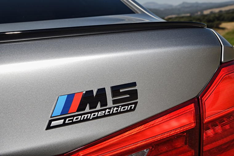 BMW M5 Competition badge