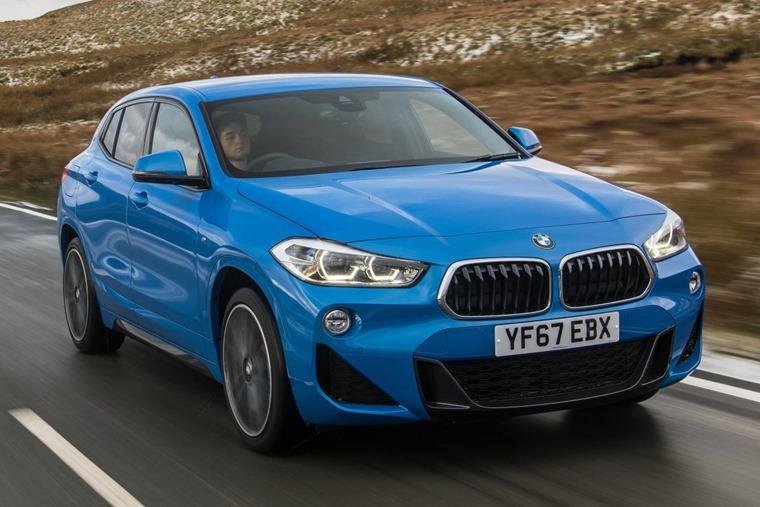 BMW X2 driving
