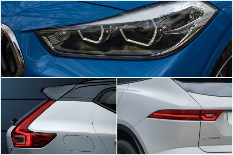 BMW X2 vs Volvo XC40 vs Jaguar E-Pace detail