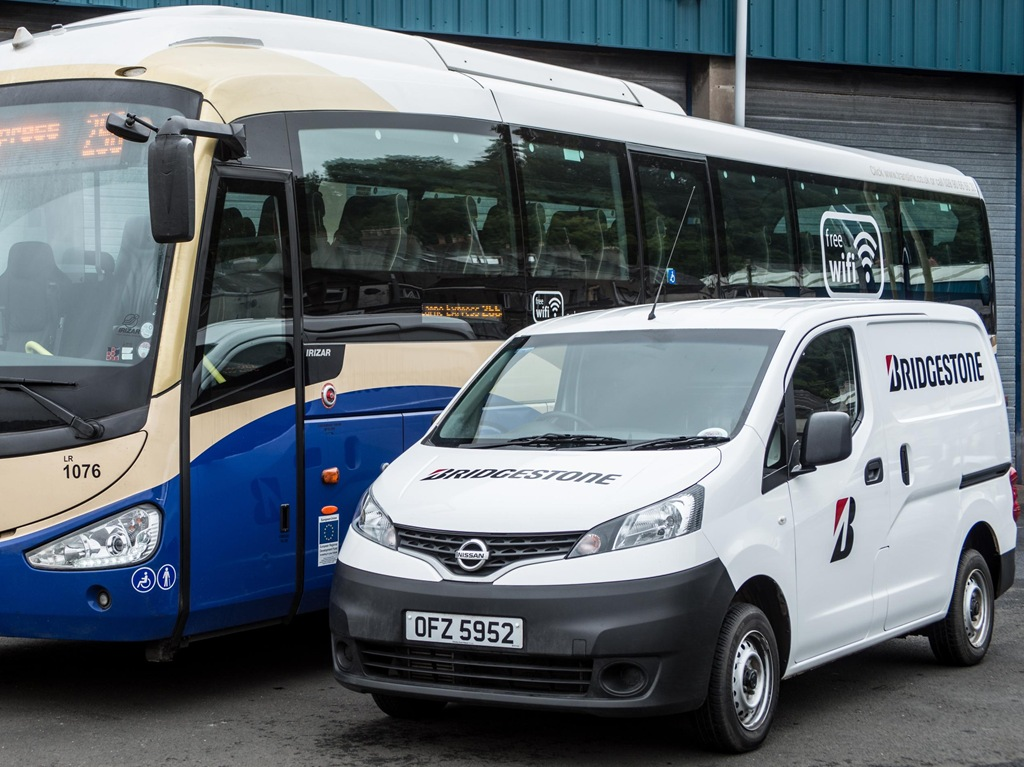 ac61c1e32e78eb Bridgestone drivers will use the vans to conduct portable tyre inspections  on Ulsterbus buses throughout Northern