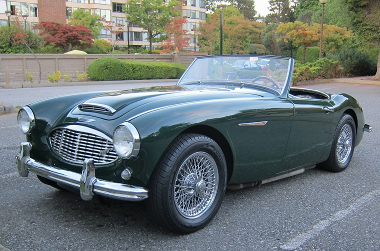 British Racing Green Austin-Healey