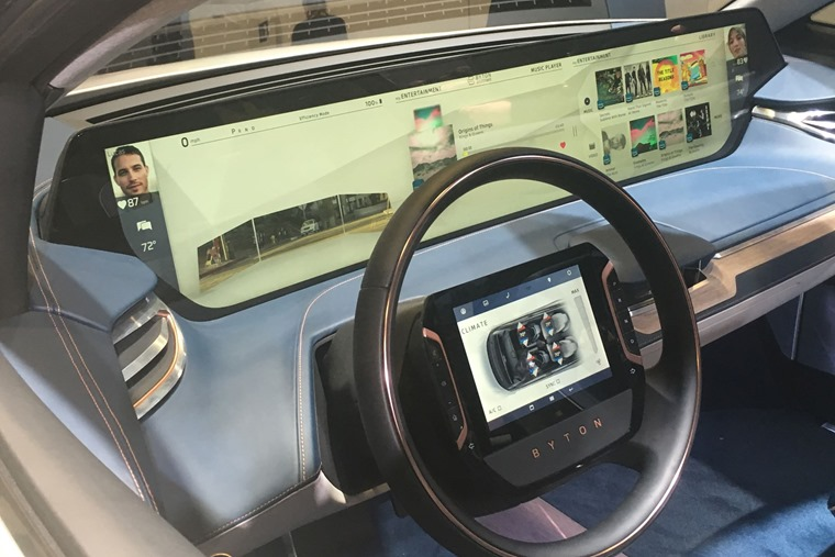 Byton dashboard infotainment