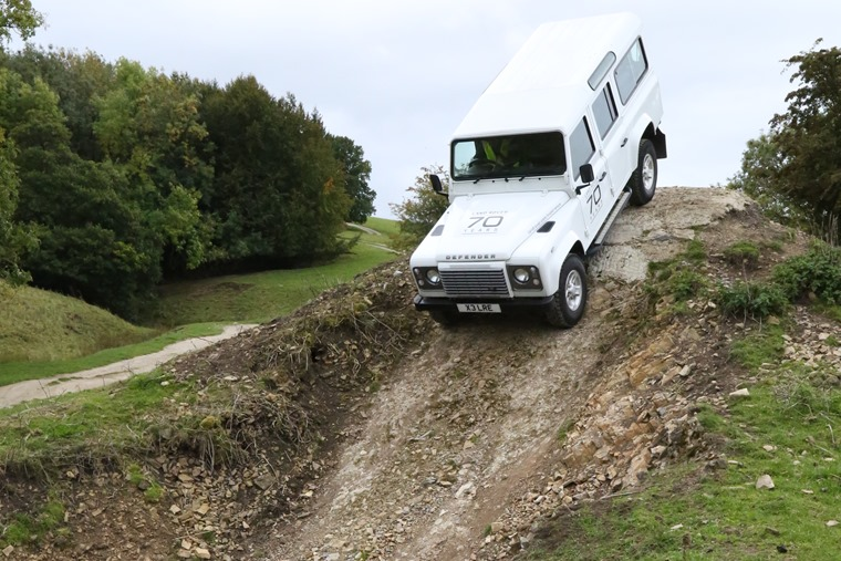 Land Rover Defender descent