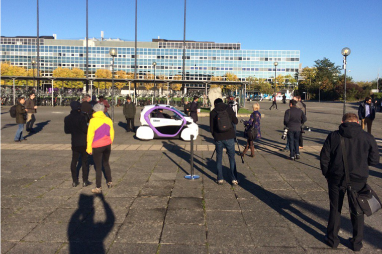 Is it a car? Kind of... This UK-developed driverless car has taken to the streets (and pavements) of Milton Keynes.