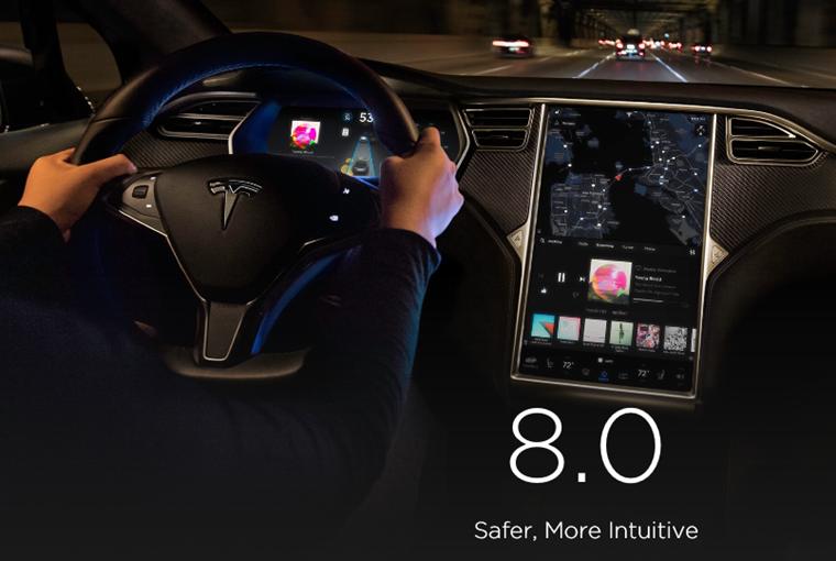 Version 8.0 of Tesla's sofware promises to be the most advanced to date.