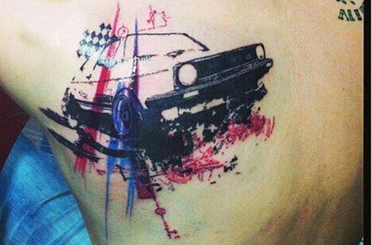 Volkswagen Golf GTI Trash Polka tattoo