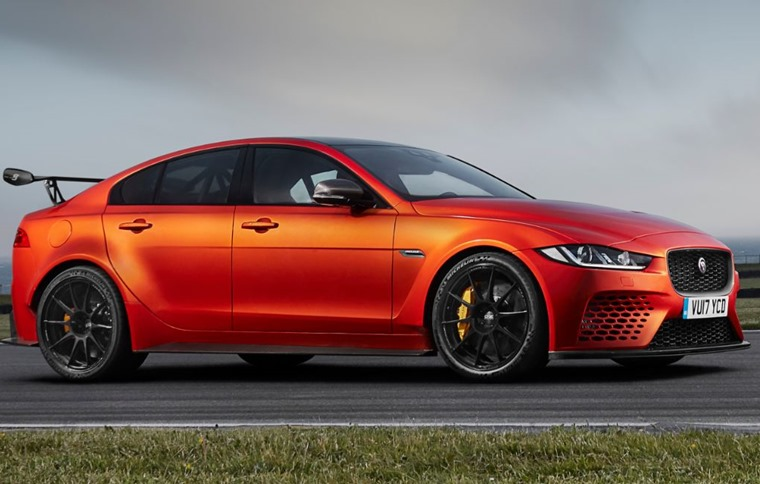 This Jaguar XE SV gets over 500bhp and a 5.0-litre V8.