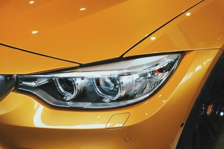 BMW metallic orange