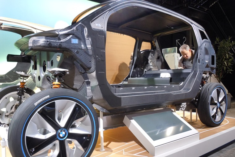 Carbon Fibre reinforced plastic is used in the BMW i3's construction