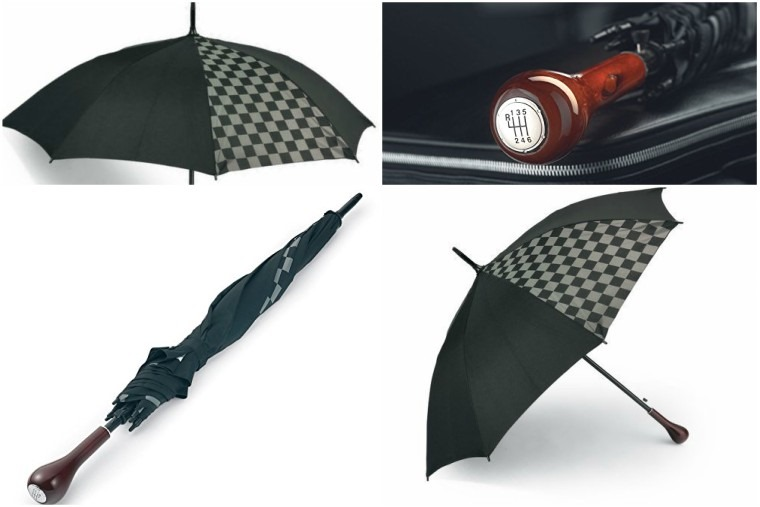 Chequered flag umbrella