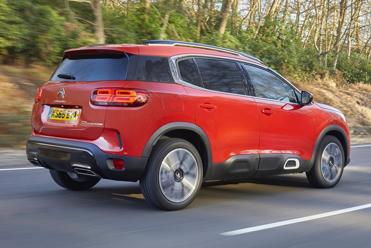 Citroen C5 Aircross on the road rear