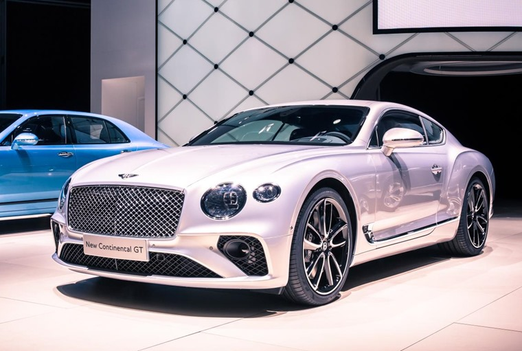 The all-new Bentley Continental GT at Frankfurt.