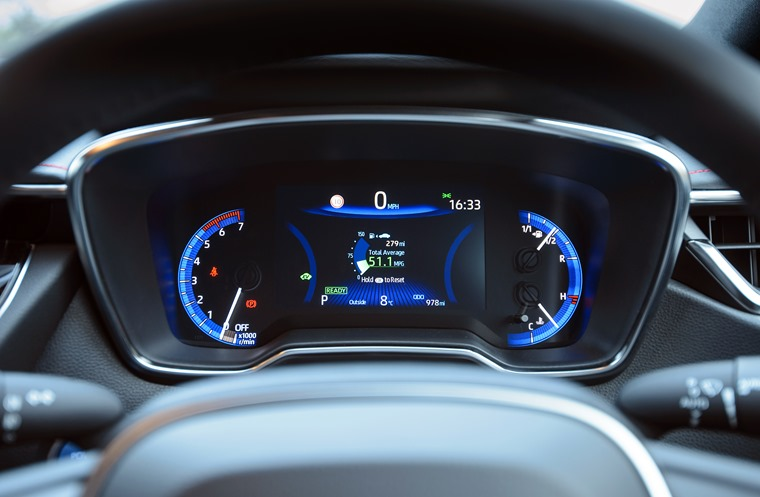 Toyota Corolla interior.