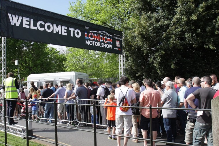 Last year's London show attracted big crowds...