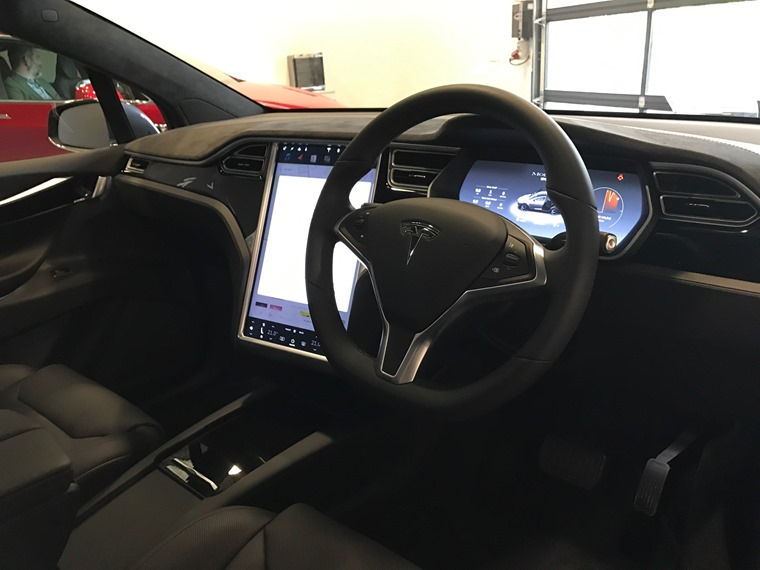 Minimalist interior is dominated by huge touchscreen similar to the Model S, but quality has taken a serious step up.