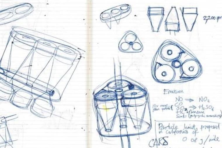 Dyson electric battery car sketch