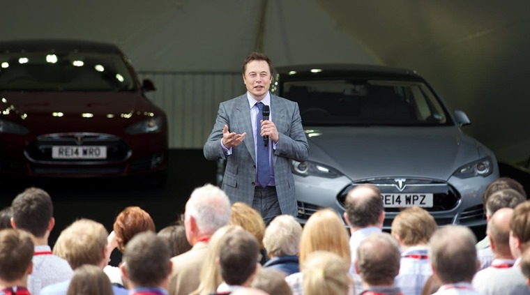 Elon Musk at event
