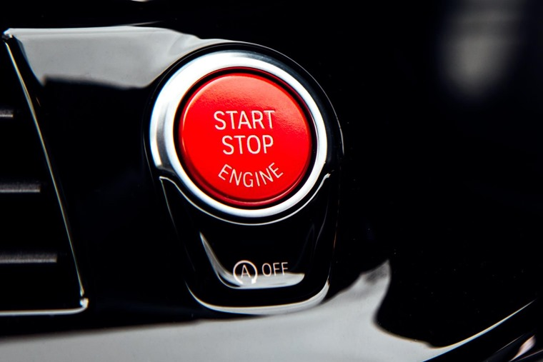 2018 BMW M5 start button