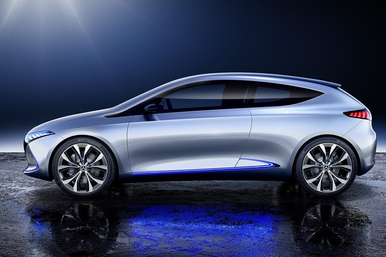 The EQA is a similar size to the conventional A-Class.