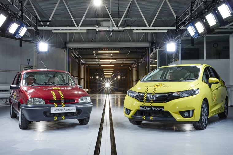 Euro NCAP celebrated its 20 year anniversary with a demonstration of just how much crash safety has improved...