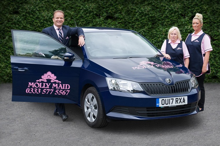 Skoda cleans up as Molly Maid adds Fabia to fleet.