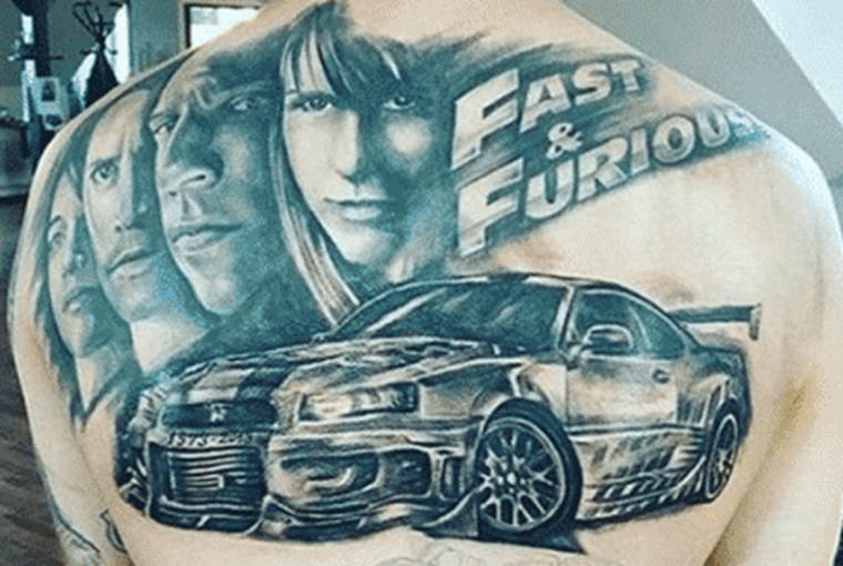 Fast and Furious Nissan GTR tattoo fail