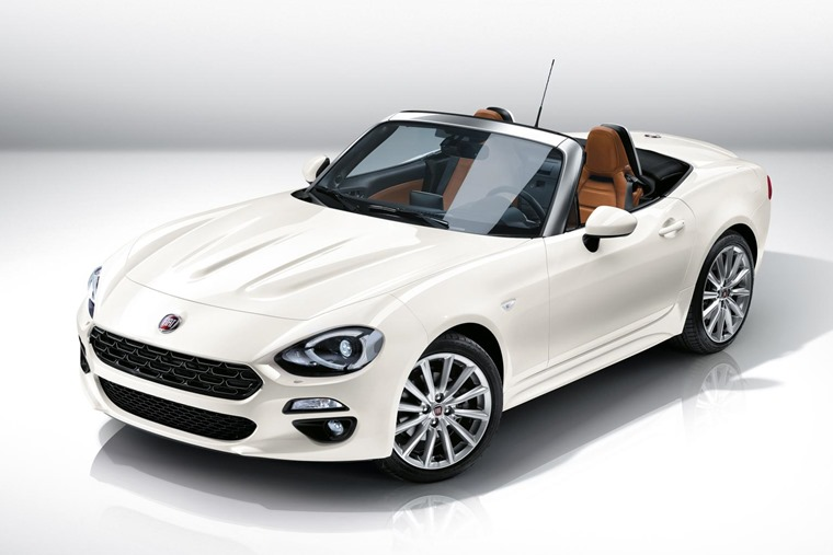 Fiat 124 Spider 2017 White Front Static