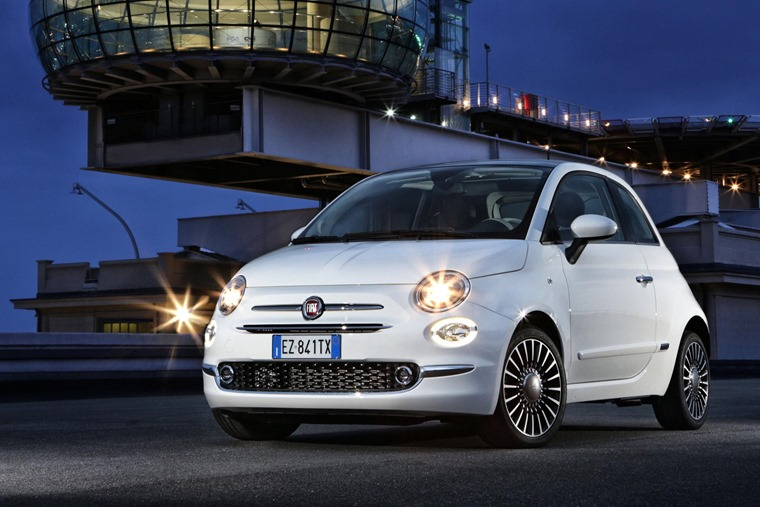 Fiat 500 2016 White Front Static