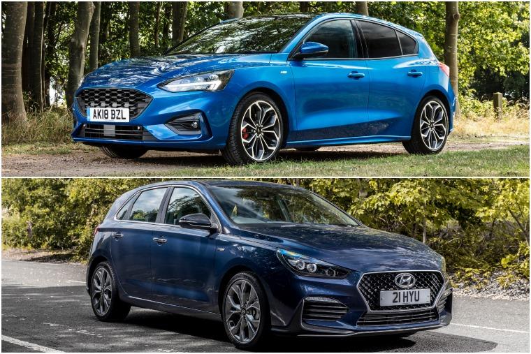 Ford Focus ST-Line vs Hyundai i30 N-Line lead
