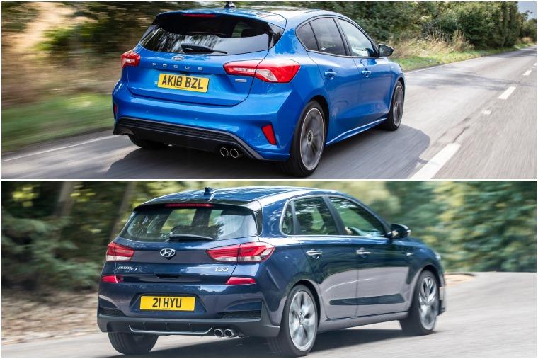 Ford Focus ST-Line vs Hyundai i30 N-Line rear