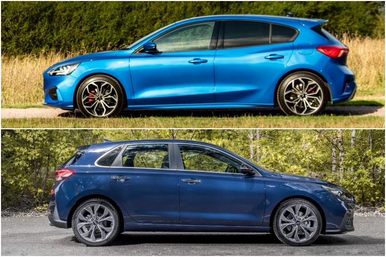Ford Focus ST-Line vs Hyundai i30 N-Line side