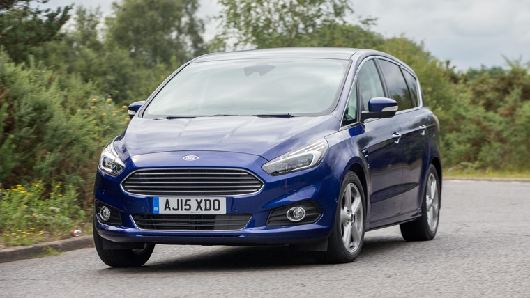 Ford S-Max 2016 Blue Front Dynamic 1
