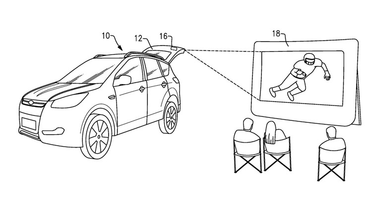 Ford Tailgate Projector patent