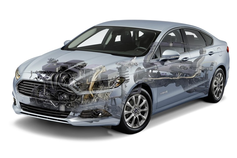 The Ford Fusion Hybrid takes the shape of the Mondeo Hybrid in the UK