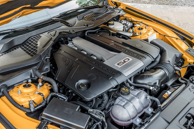Ford's famed 5.0-litre V8 engine has been further developed to deliver more power and a higher rev-limit than ever before