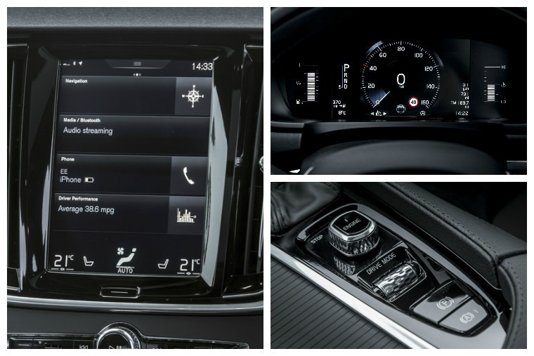 The infotainment touchscreen controls most of the car's functions, and the driver gets an LED dashboard display too.