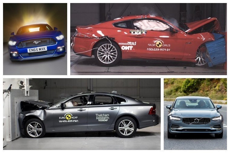 2017's first batch of Euro NCAP tests were made up of Ford's Mustang and Volvo's S90 and V90.