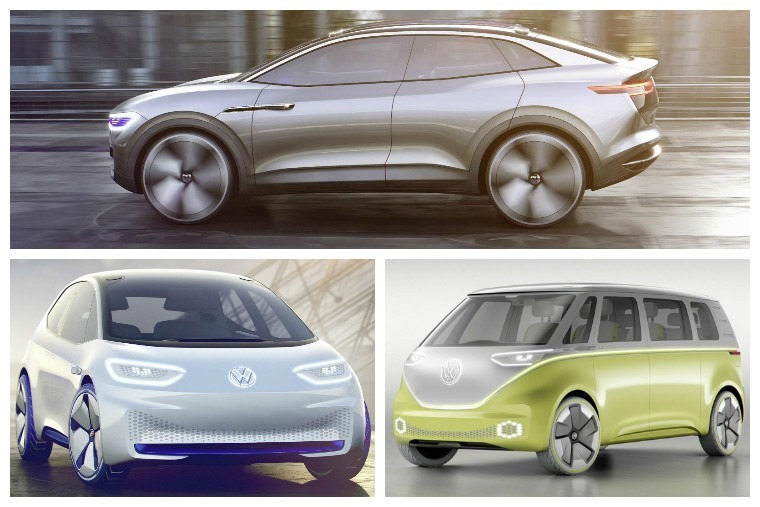 New Crozz concept above, Buzz concept below right, I.D. hatchback below left.
