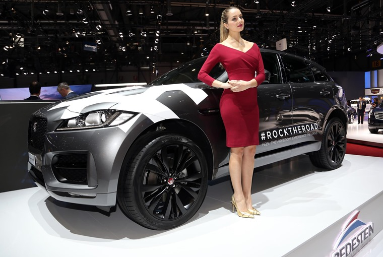 Model with Jaguar F-Pace