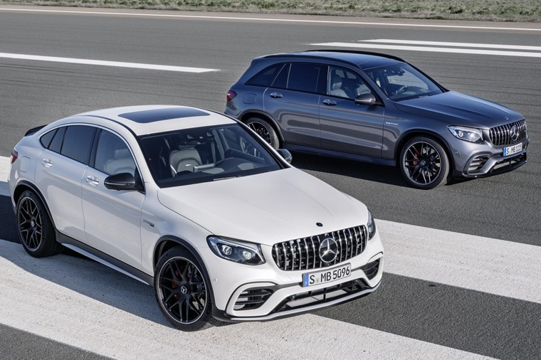 The GLC and its Coupe sibling are now available with the fiery AMG 63 twin-turbo V8.