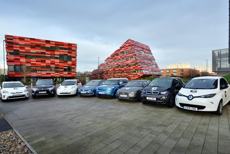 A selection of Go Ultra Low vehicles – the government wants all new cars produced by 2040 to have ultra low emissions