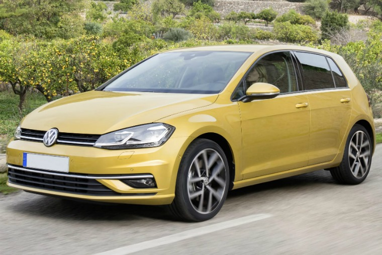 Volkswagen Golf Tumeric Yellow metallic
