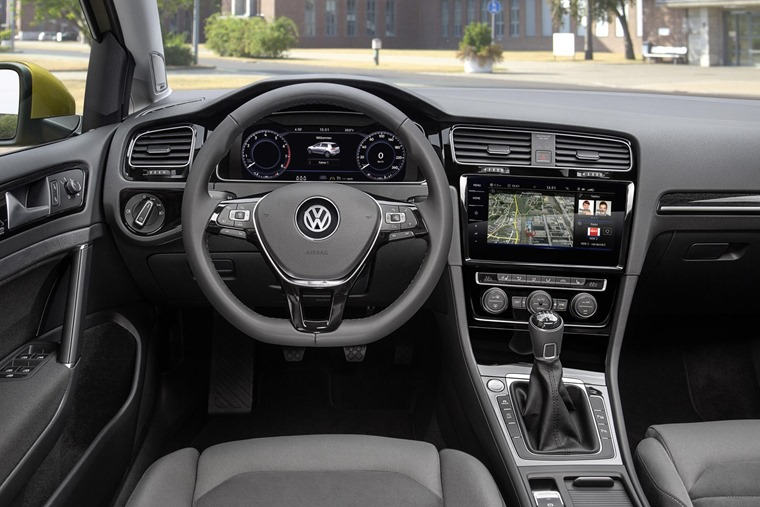A new infotainment system takes centre stage, but the Golf can also be specced with a 12.3in driver readout, which replaces traditional dials.