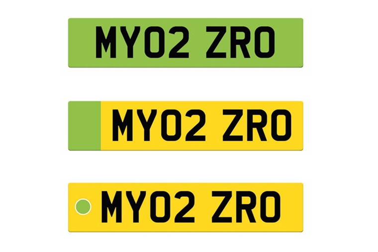 Green number plate designs