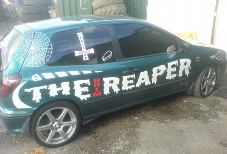 Grim Reaper three door car